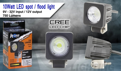 LED FLOOD LIGHT 10W BLACK